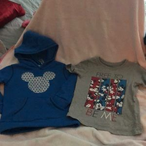 Disney Mickey Mouse sweatshirt and T-shirt